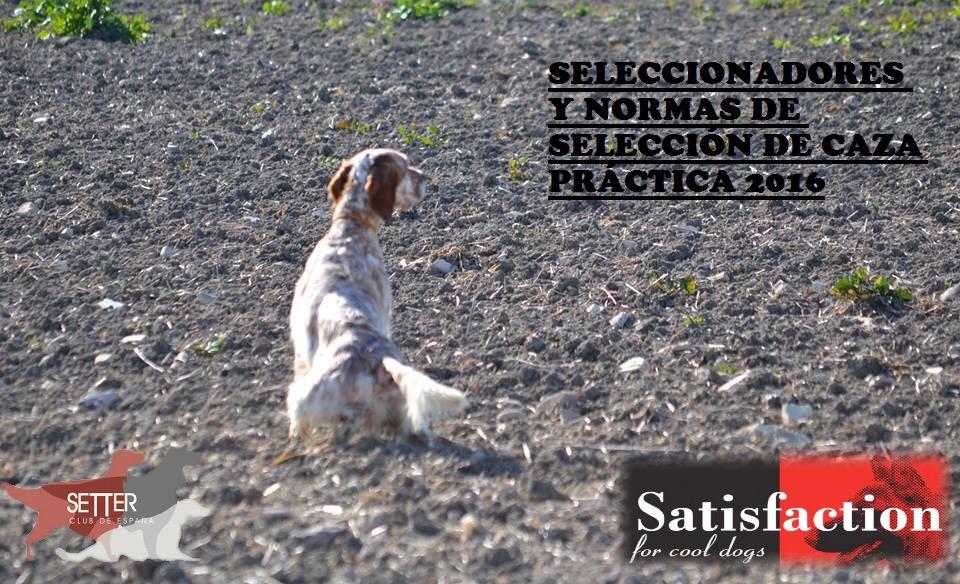 """SELECCIONADORES Y NORMAS DE SELECCIÓN PARA CAZA PRÁCTICA MONTAÑA Y """"SELECTIVAS"""" 2016"""