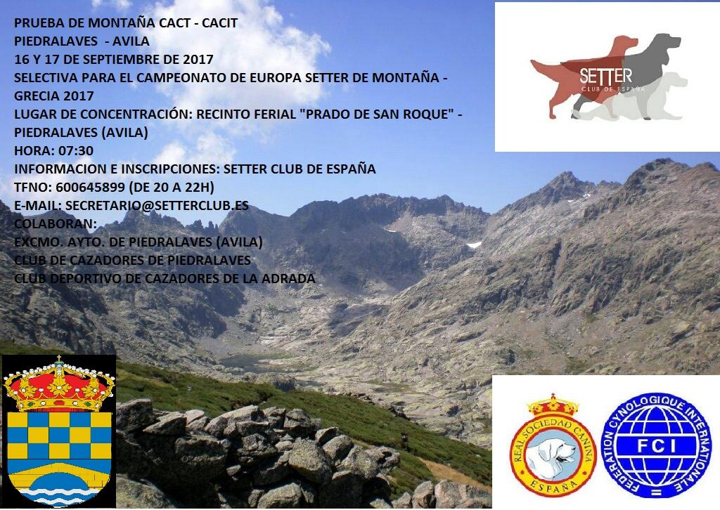 Prueba de Montaña – Piedralaves (Ávila)
