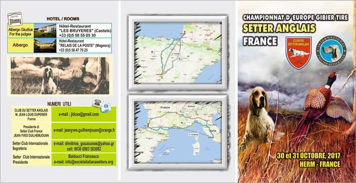 Programa Campeonatos Europeos Caza Práctica 2017 – Herm (Francia)