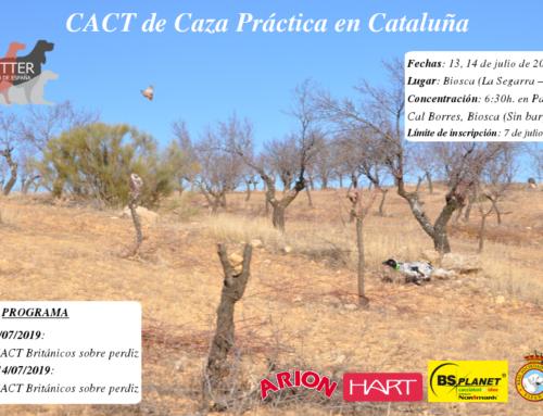 CACT Caza Práctica Cataluña 2019