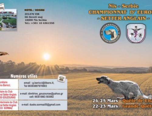 Campeonato Europeo Setter Inglés 2020 – Gran Busca y Búsqueda de Caza